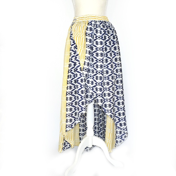 Anthropologie Dresses & Skirts - ANTHROPOLOGIE FUNKTIONAL High-Low Silk Ikat Skirt